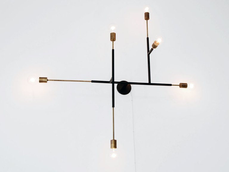 Uri Davillier, Circuit Chandelier, Aluminum, steel, brass, Consume: Handcrafting L.A. Restaurant Design, Craft in America