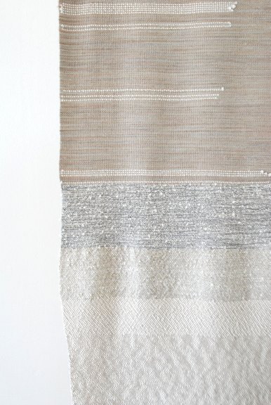 Rachel Snack, Untitled, hand woven textile for the body (detail)