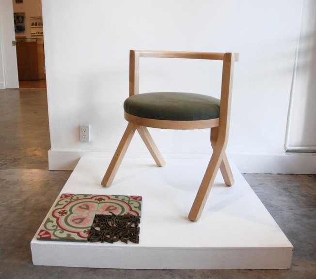 Klein Agency, HL Cafe Chair, White oak, canvas, 2017, Highly Likely, Consume: Handcrafting L.A. Restaurant Design, Craft in America