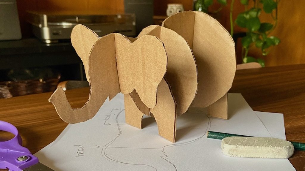 elephant cardboard project