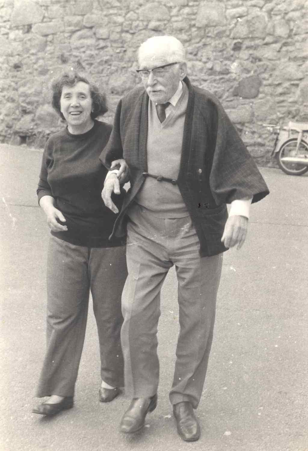 Bernard Leach and Trudi Scott. Courtesy of Jeff Oestreich. Craft in America CROSSROADS