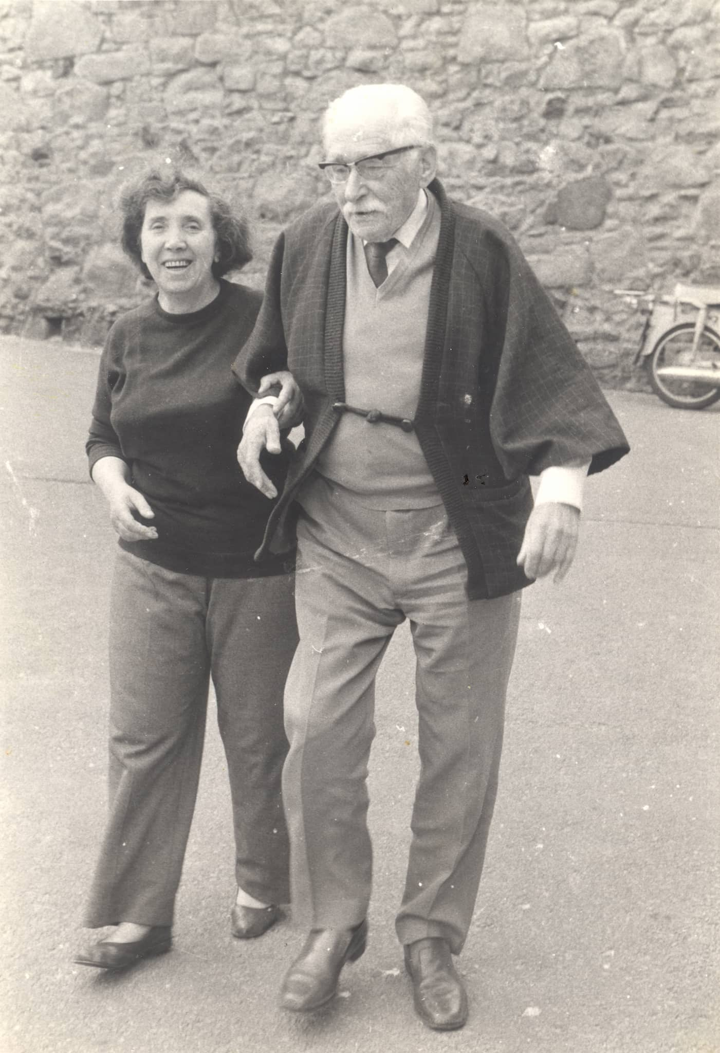 Bernard Leach and Trudi Scott. Courtesy of Jeff Oestreich. Craft in America CROSSROADS