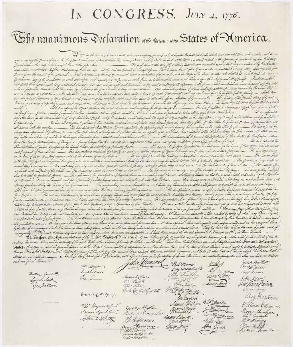Print #3 of the Declaration of Independence, DEMOCRACY, Craft in America