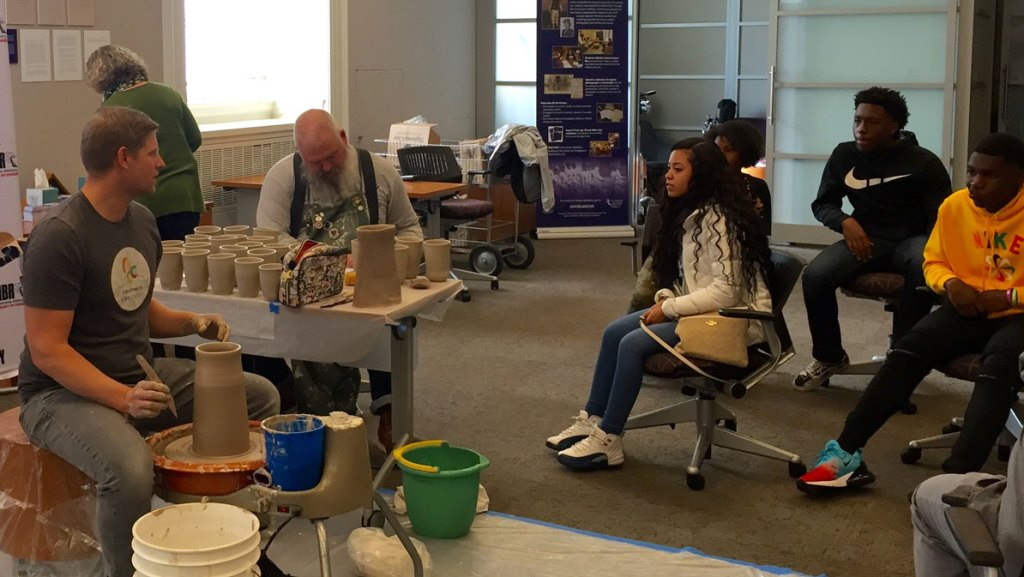 Veterans History Project Ceramic wheelthrowing demonstration at the Library of Congress. Craft in America DEMOCRACY.