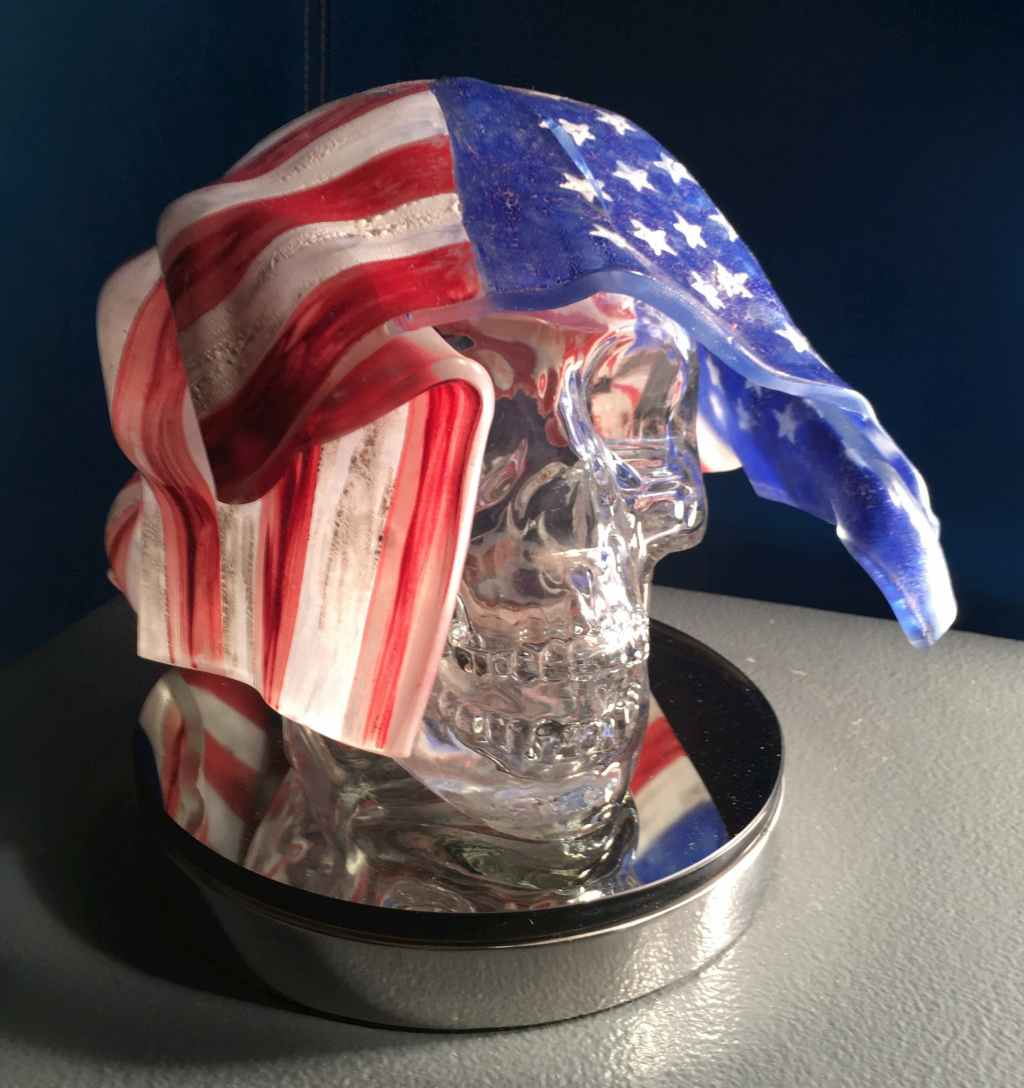 John Luebtow, ode (owed) to democracy POTUS, 2016-2020, glass, Craft in America