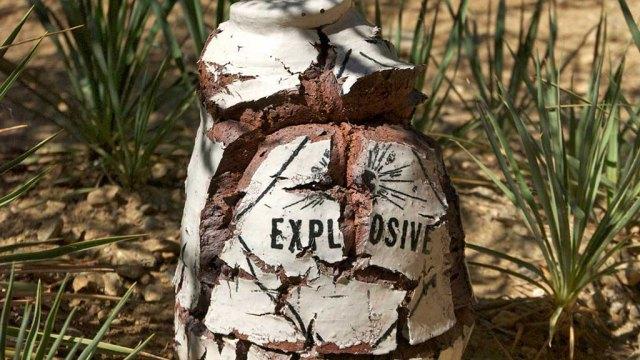 Clayton Bailey, Exploding Clinker Bottle, 2013 (Header)