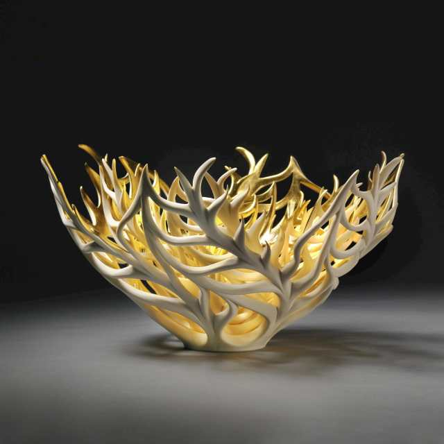 Jennifer McCurdy, Gilded Coral Nest, Craft in America