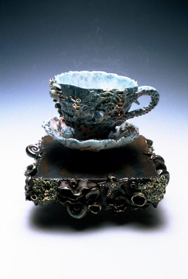 Nikki Lewis, Sea Teacup and Saucer, Craft in America