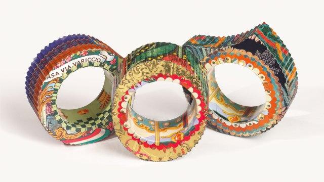 Harriete Estel Berman, Corrugated Bracelet series. Courtesy of the artist. JEWELRY episode of Craft in America