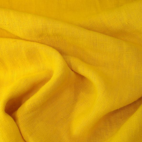 tissu lin lave d ameublement jaune par 10 cm