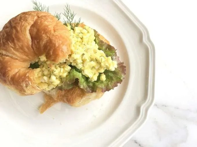 Egg Salad on a Croissant | Dill Egg Salad