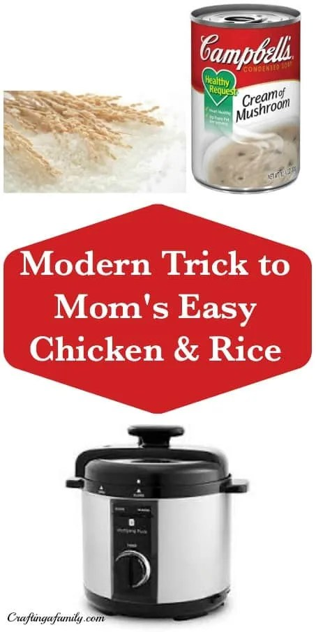 A Modern Trick to Your Mom's Easy Chicken and Rice Dish ~ Electric Pressure Cooker Chicken and Rice Dinner