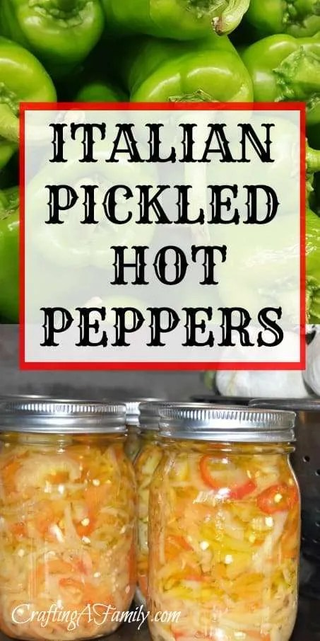 ITALIAN CANNED PICKLED HOT PEPPERS