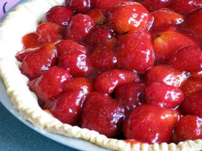 Fresh Strawberry Pie in June