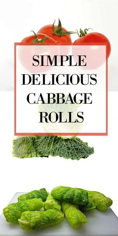 Simple Delicious Cabbage Rolls