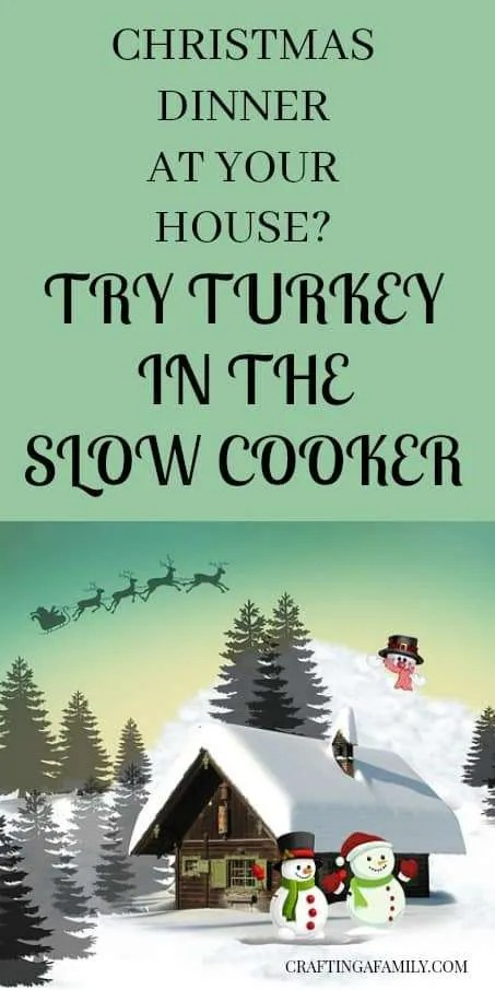 CHRISTMAS DINNER AT YOUR HOUSE? THE BEST TURKEY BREAST I HAVE EVER MADE IS THIS RECIPE IN THE SLOW COOKER/CROCK POT. IT IS MOIST, FLAVORFUL, AND HAND FREE WHILE YOU ENJOY YOUR CHRISTMAS PARTY.