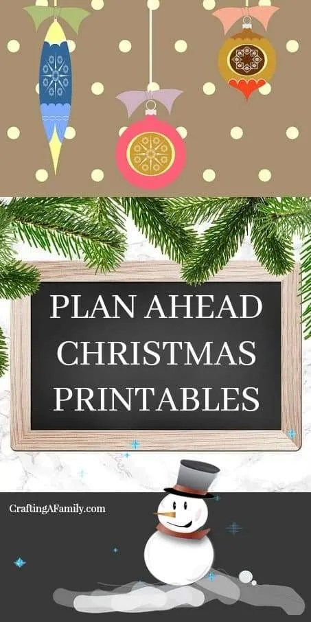 Plan Ahead Christmas Printable for you next Christmas Party