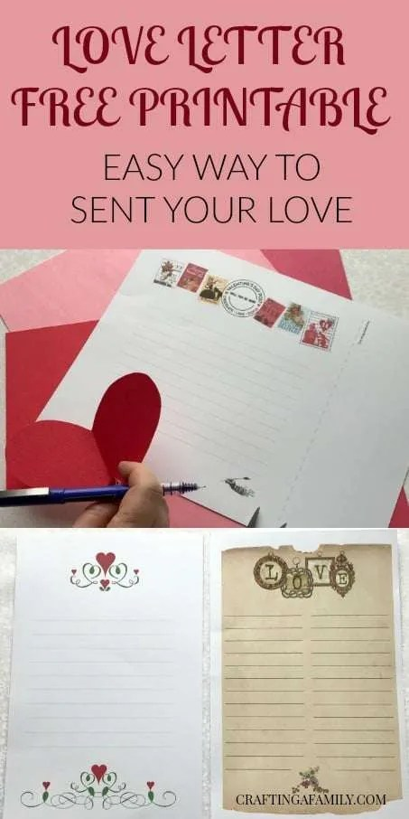VALENTINE'S DAY LOVE LETTER & ENVELOPE ART