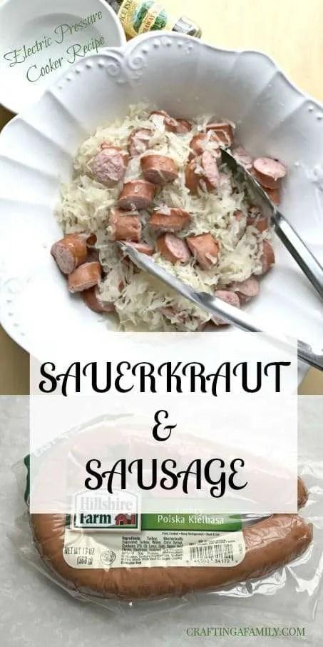 Electric Pressure Cooker New Year's Sauerkraut & Turkey Sausage Recipe