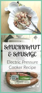 It is traditional in my family and in my husbands family to have sauerkraut and pork for the weekend of New Year's day. I have made this recipe many time and it is a great quick and easy electric pressure cooker/instant pot weeknight dinner meal.