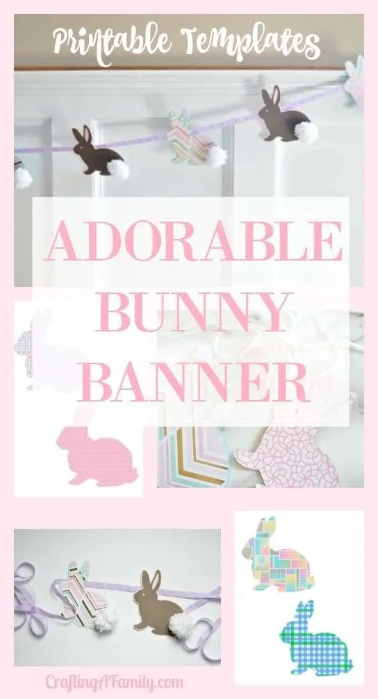 ADORABLE FUN EASTER CRAFT BUNNY POMPOM BANNER
