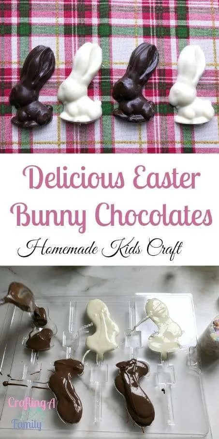 The traditional Easter basket is not complete without homemade chocolate Easter Bunnies. Easter is the perfect time for crafts with great pastel colors.