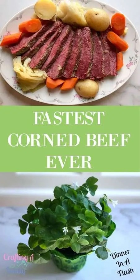 Our family being German and Italian, never had a tradition of corn beef dinner. All the stories I've heard about making the perfect corn beef involved an extensive slow cooking process. So I've never attempted to try making corned beef.