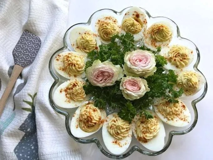 I first remember deviled eggs as a classic appetizer that my mother would make for parties. This traditions soon became a must have on the Easter dinner table