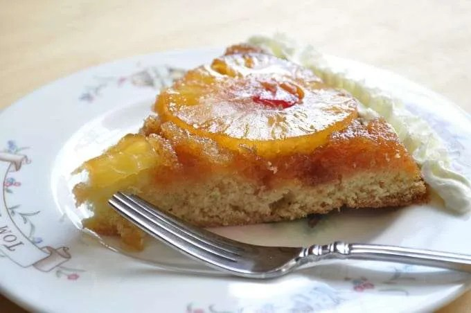 Easter Menu Pineapple Upside Down Cake Recipe, for our family, at Easter dinner one of the traditional desserts we have served for years is a skillet pineapple upside down cake recipe. My mother always made pineapple upside down cake in the spring as a light Sunday dessert.