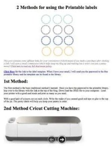 Print & Cut tutorial for labels in Cricit Design Space