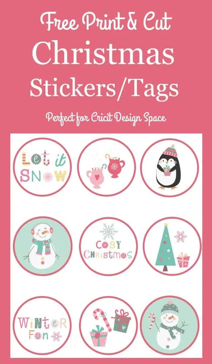 Free Printable Christmas Stickers ~ Craftingafamily.com