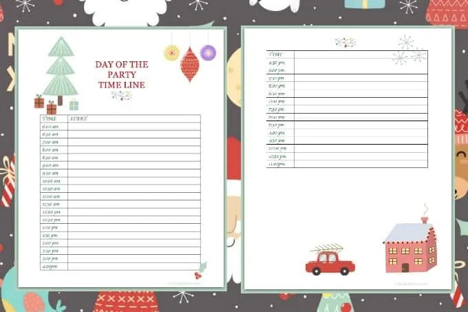 Christmas Party Planning.Christmas Party Planning Printable Crafting A Family