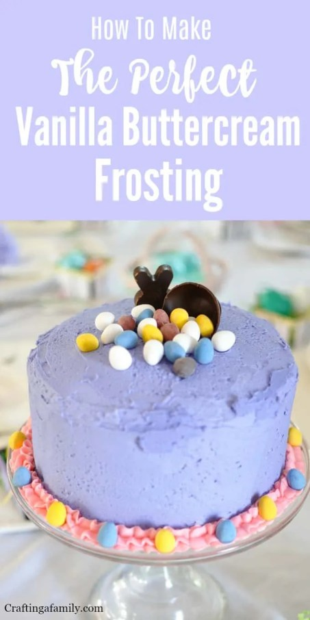 Easy Buttercream Frosting Simple Easter Cake Crafting A Family