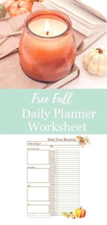 Home organization archives craftingafamily fall daily planner time management worksheet ibookread Download