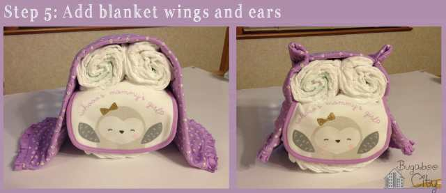 Step 5. DIY Owl Diaper Cake Tutorial