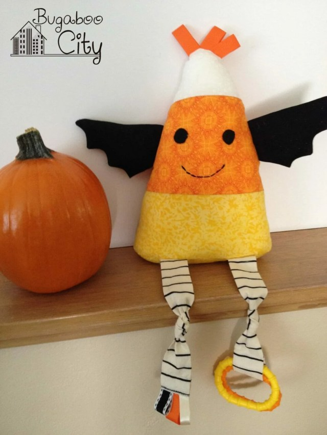 Candy Corn Baby Toy Tutorial with free pattern
