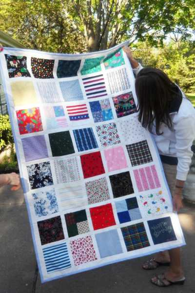Mother's Day Scrap Fabric Quilt