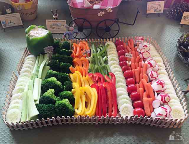 Winnie the Pooh Party Food Ideas - Rabbit's Garden Vegetables