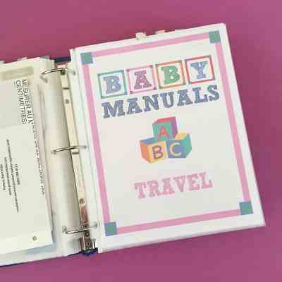 Organizing Baby Product Manuals – Free Printables
