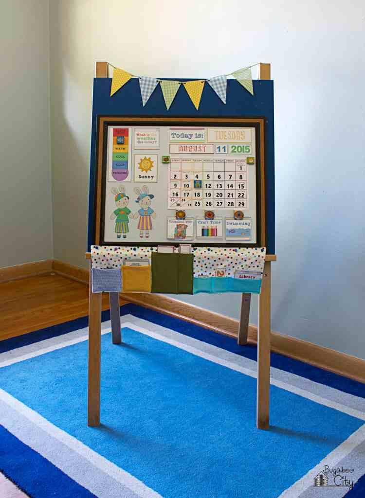 DIY Toddler Calendar Magnetic Board 1