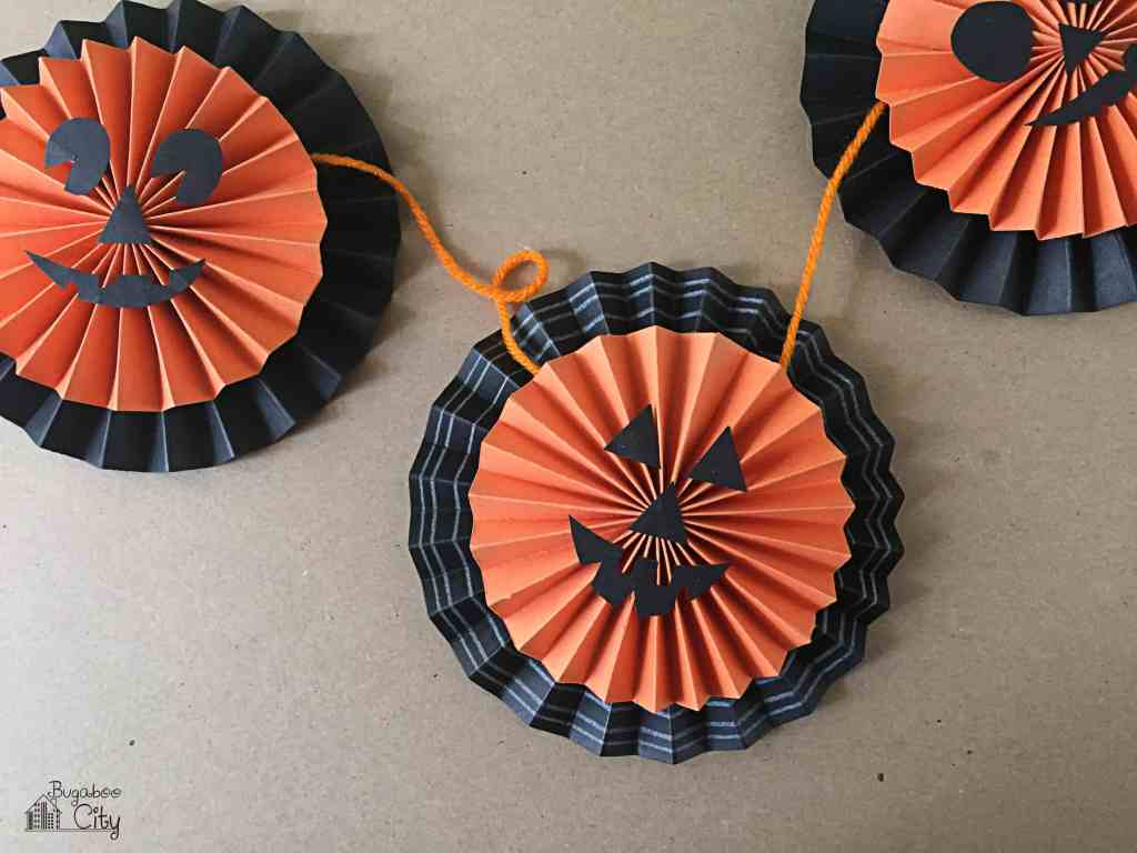 DIY Halloween Garland with Paper Medallions