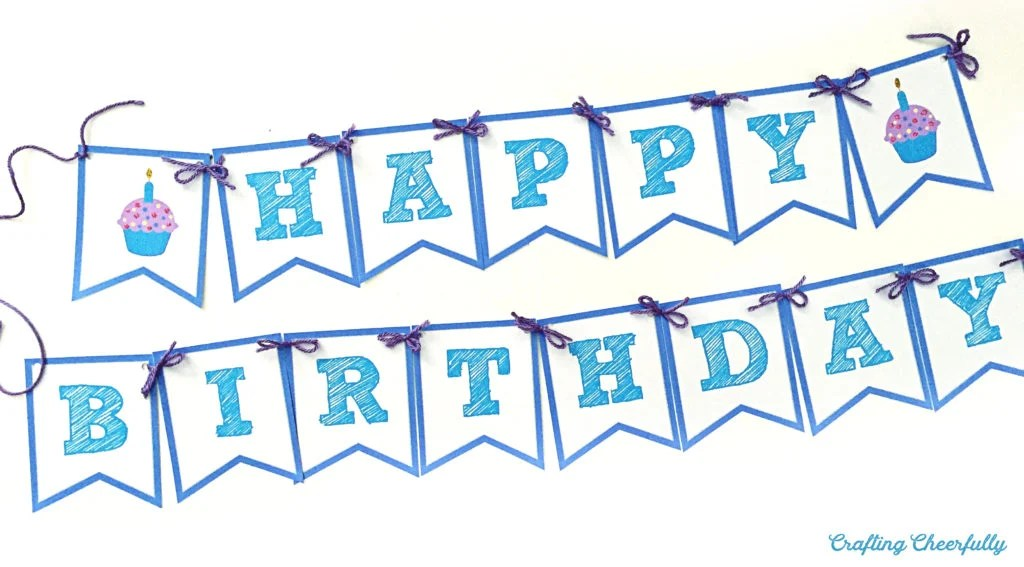 Free Printable Happy Birthday Banner Crafting Cheerfully