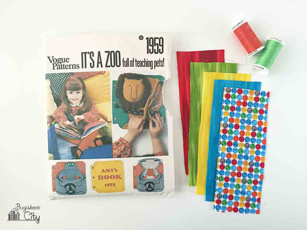 Vintage Vogue Fabric Quiet Book