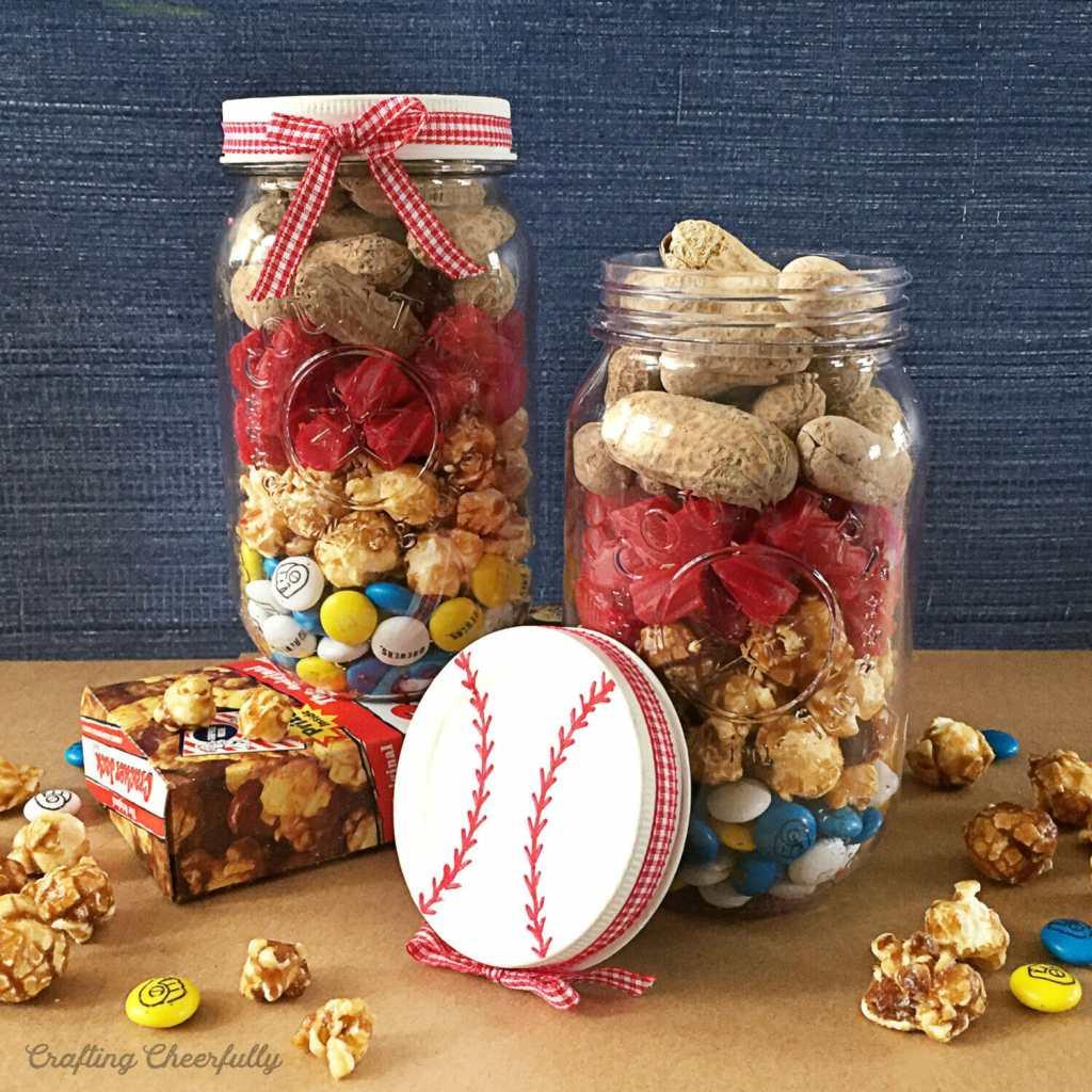 DIY Baseball Mason Jar Gift