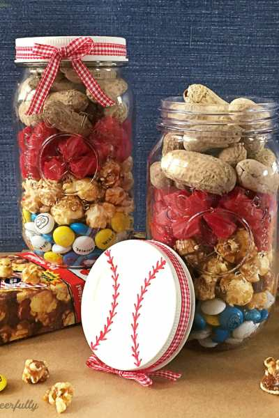 DIY Baseball Mason Jar Gift