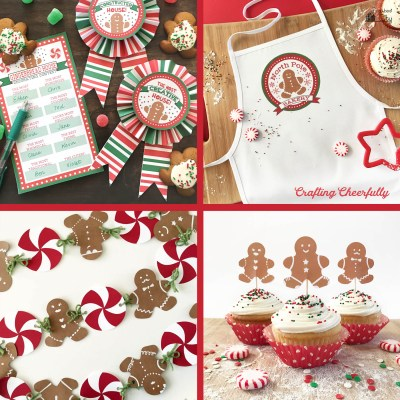 Gingerbread Cupcake Toppers and Party Ideas