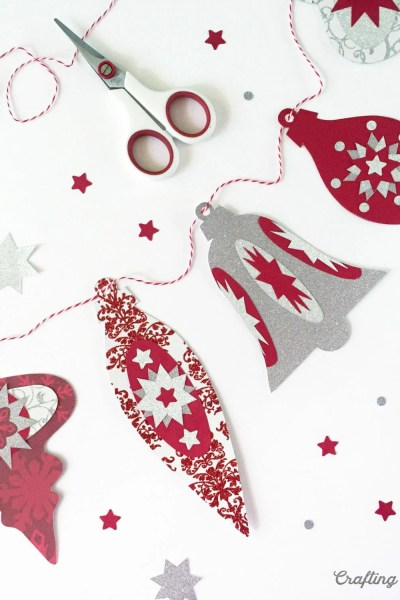 DIY Holiday Ornament Banner