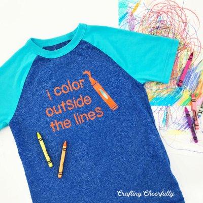 DIY Children's T-Shirt with Cricut Iron-On