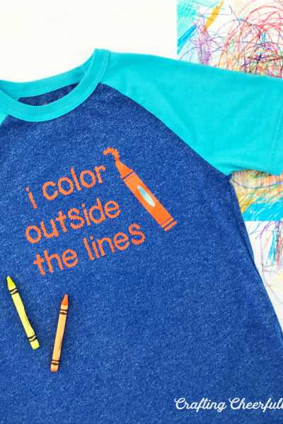 DIY Children's T-Shirt with Cricut Iron-On