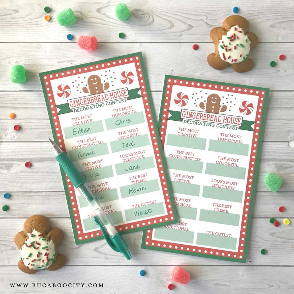 Gingerbread House and Cookie Swap Award Ribbons - Free Printables!
